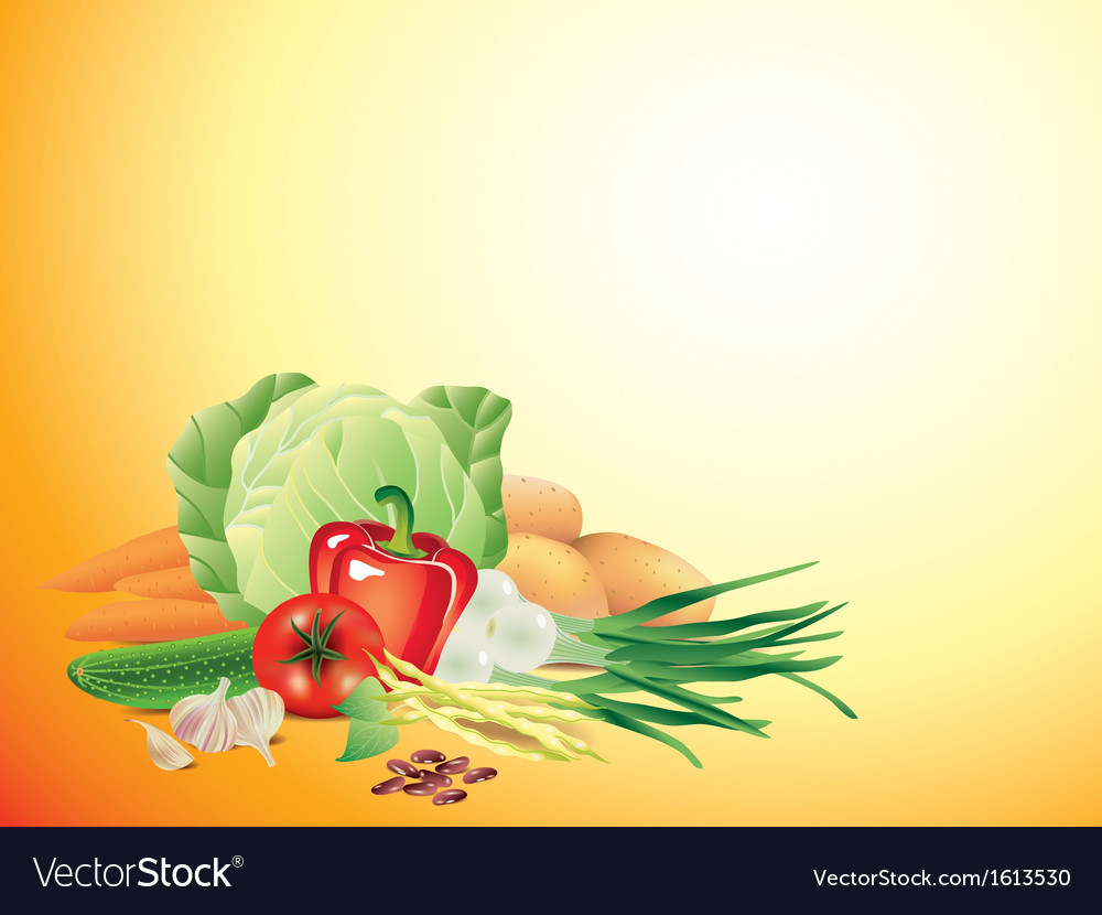 Vegetables horizontal background
