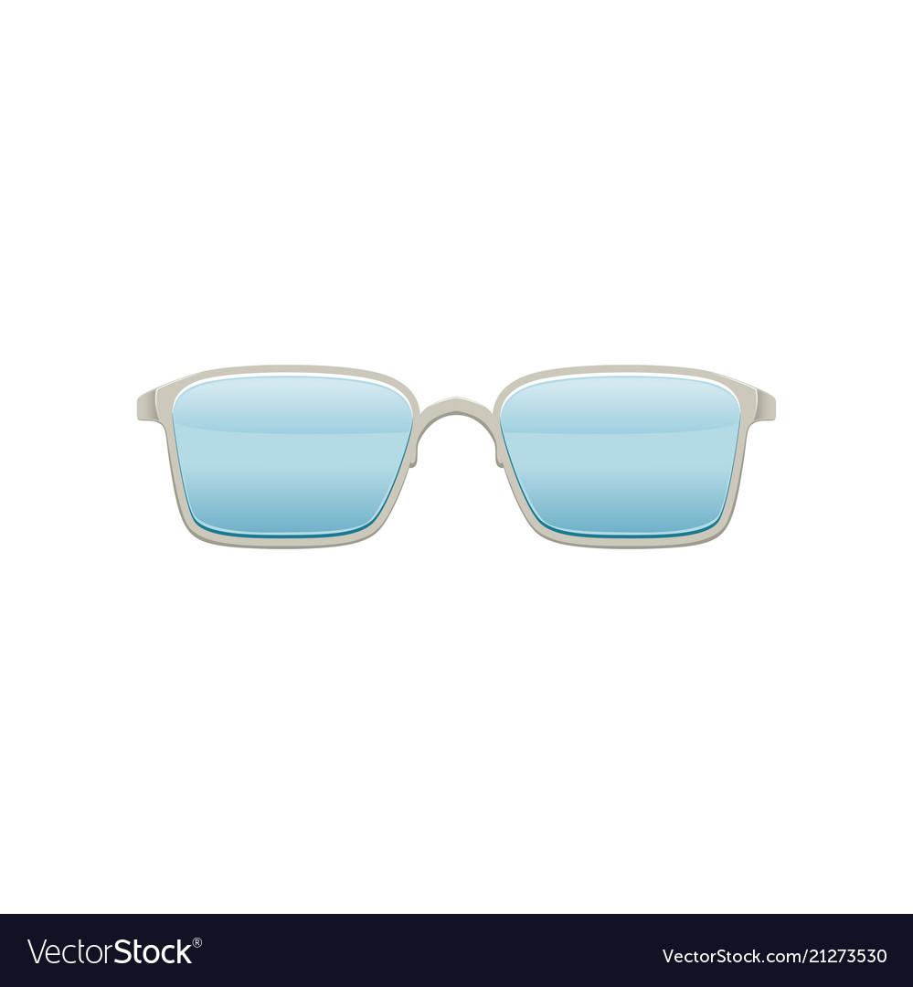 Wayfarer sunglasses with blue lenses and metallic