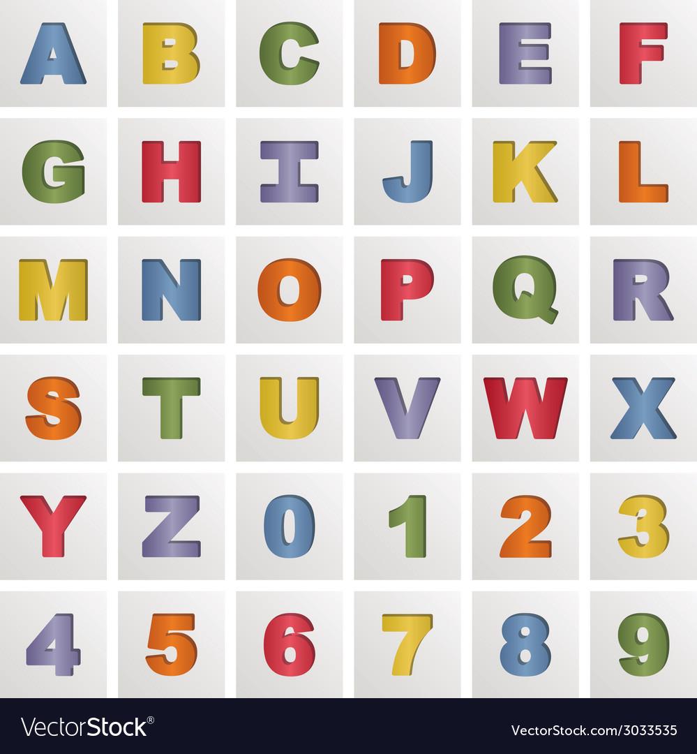 Alphabet squares vector image
