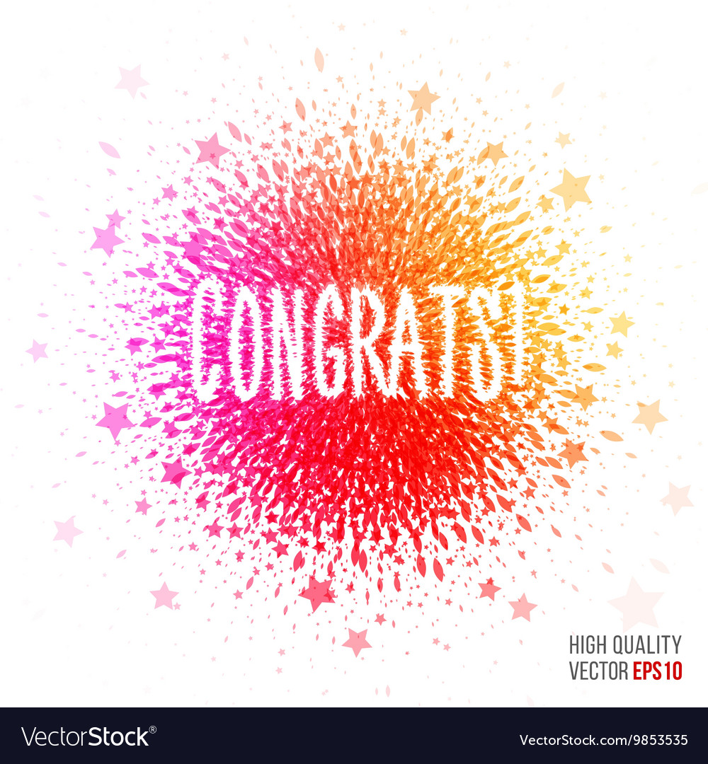 Congratulation beautiful design element for vector image