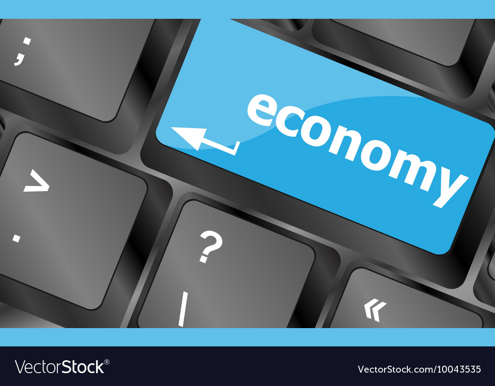 Economy button on computer keyboard keys