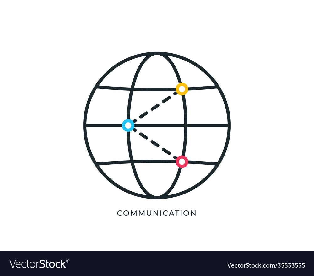 Global networking icon globe icon isolated on