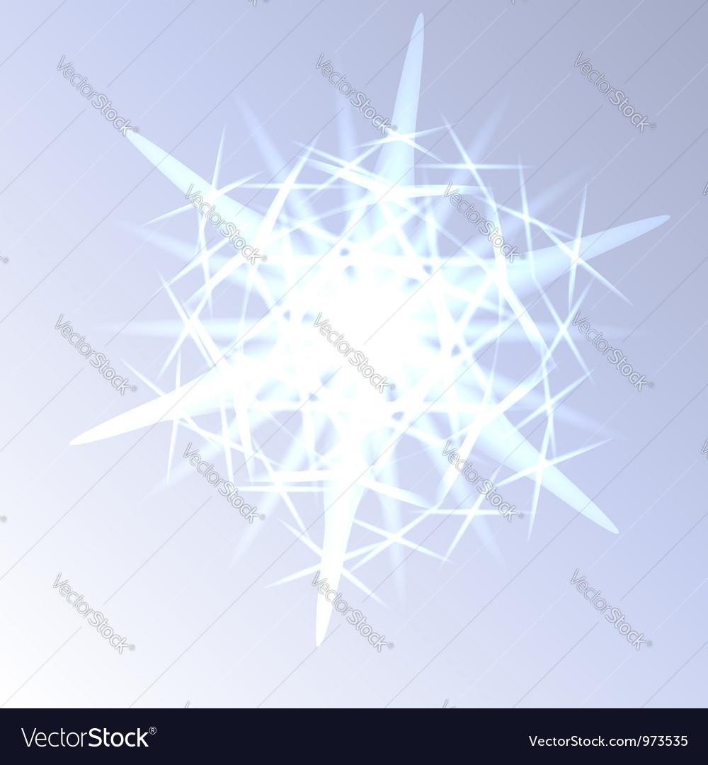 Light snowflake closeup vector image