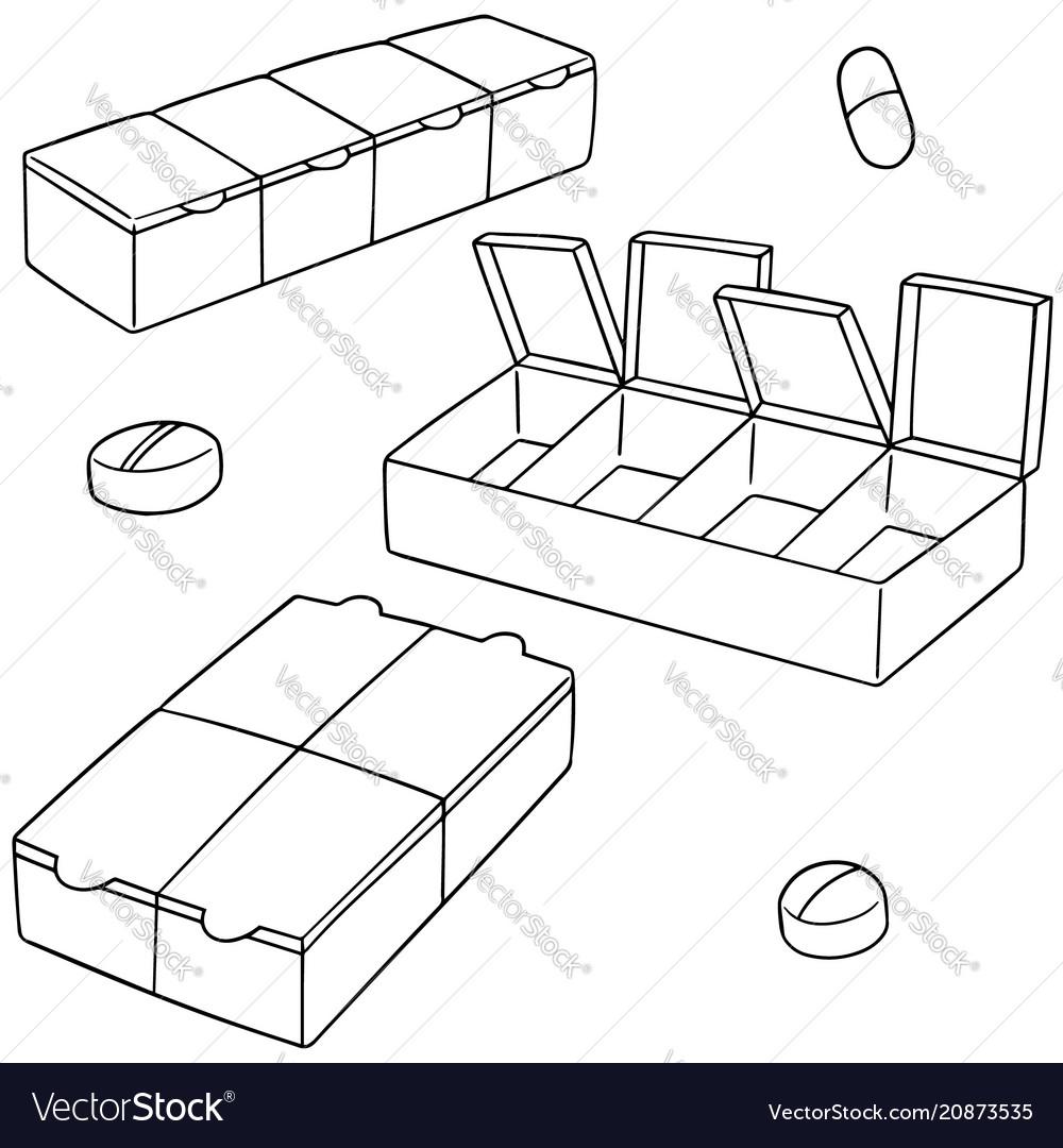 Set of pill box