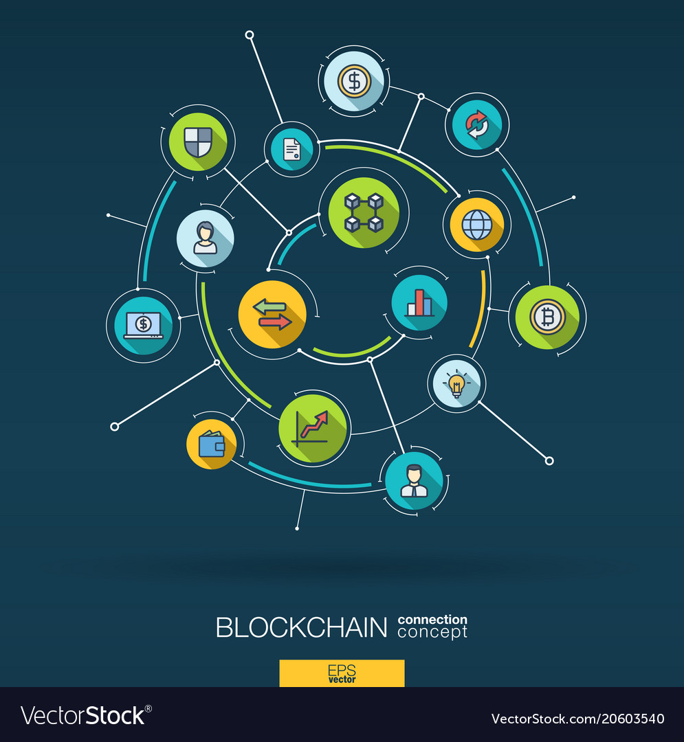 Abstract blockchain crypto fintech background