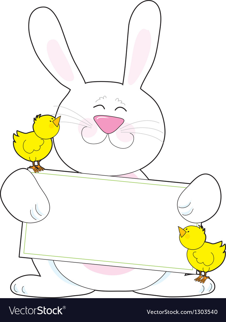 Bunny Sign vector image