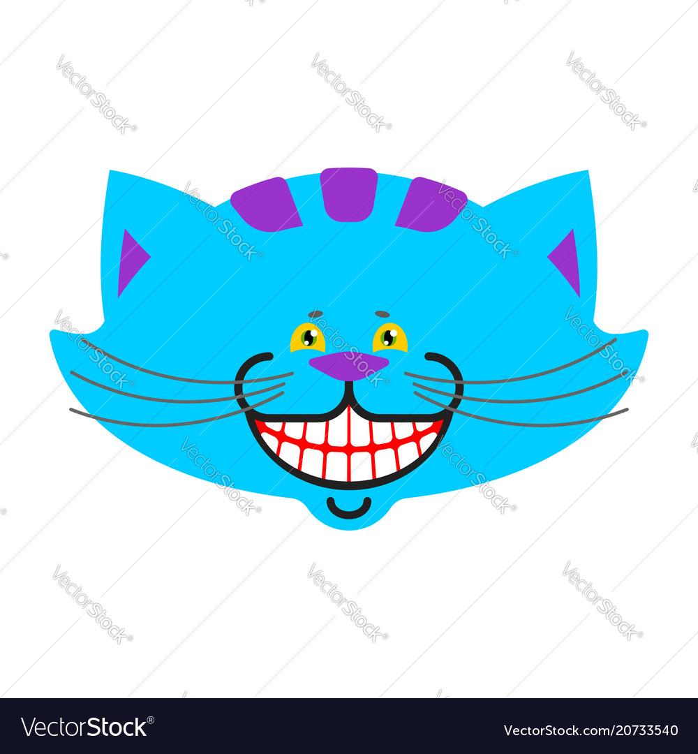 Cheshire cat smile isolated fantastic pet alice