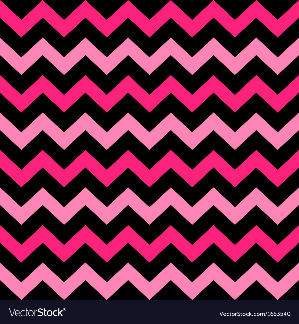 Cute Chevron seamless pattern - black and pink vector image
