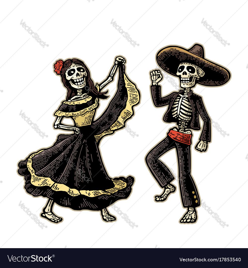 Day of the dead dia de los muertos the skeleton