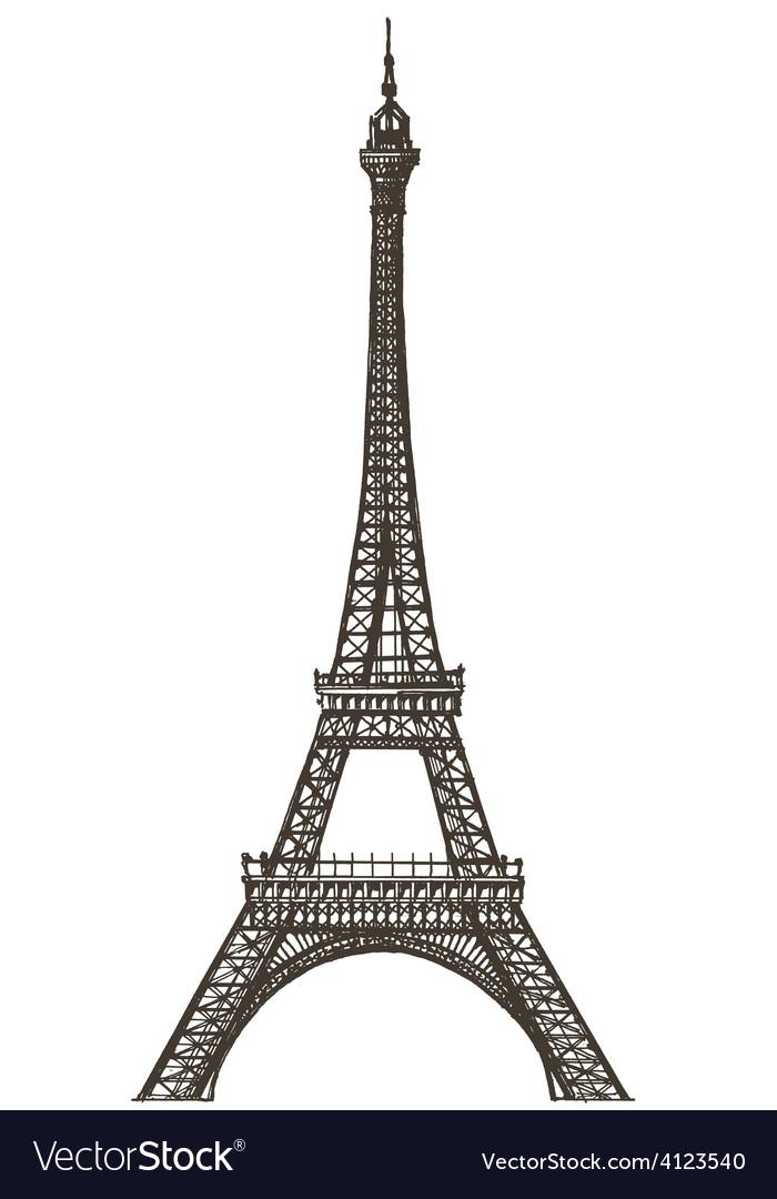 eiffel tower logo design template paris or vector image