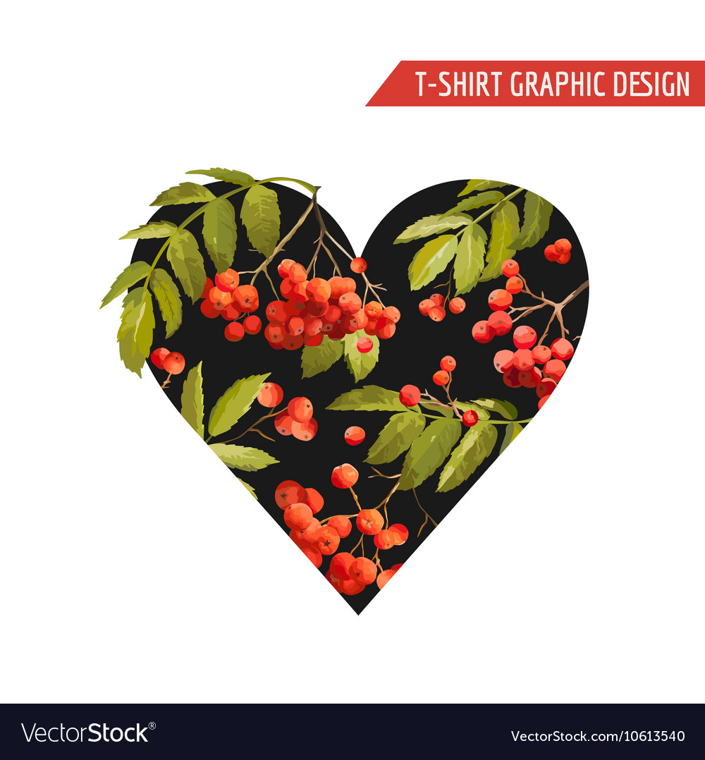 Floral Heart Graphic Design - for T-shirt Fashion