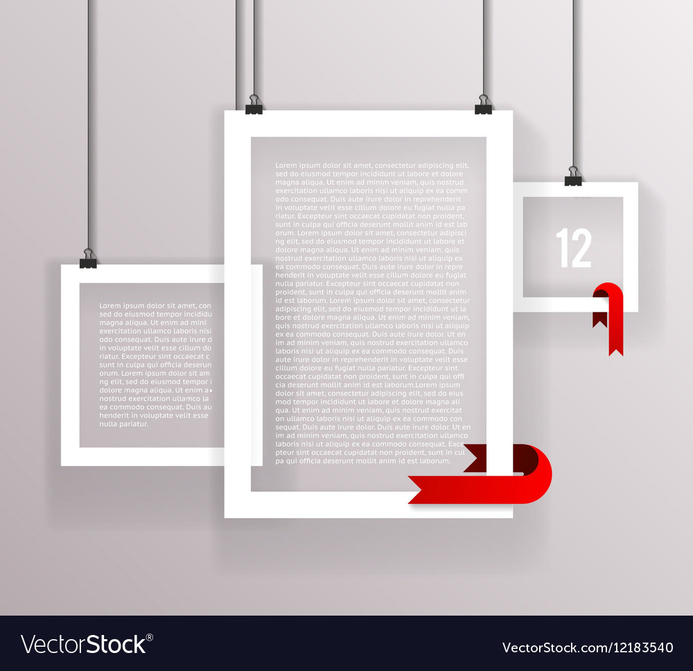 Frames Paper Big Little Realistic Text Poster Icon