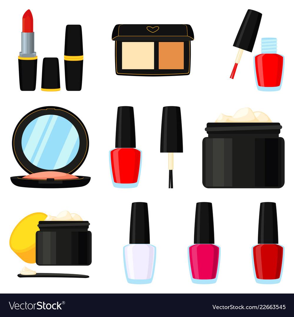 11 colorful cartoon makeup elements