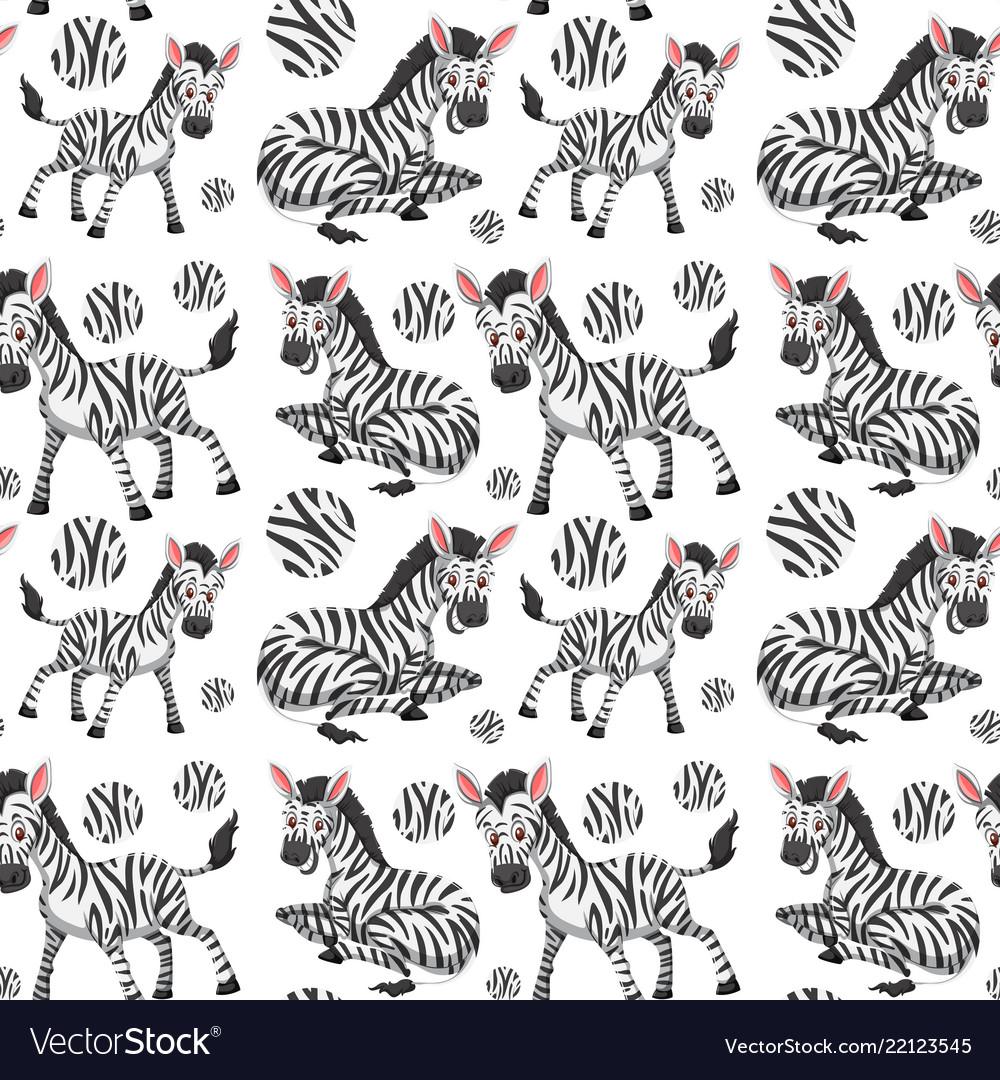 A seamless wallpaper of zebra