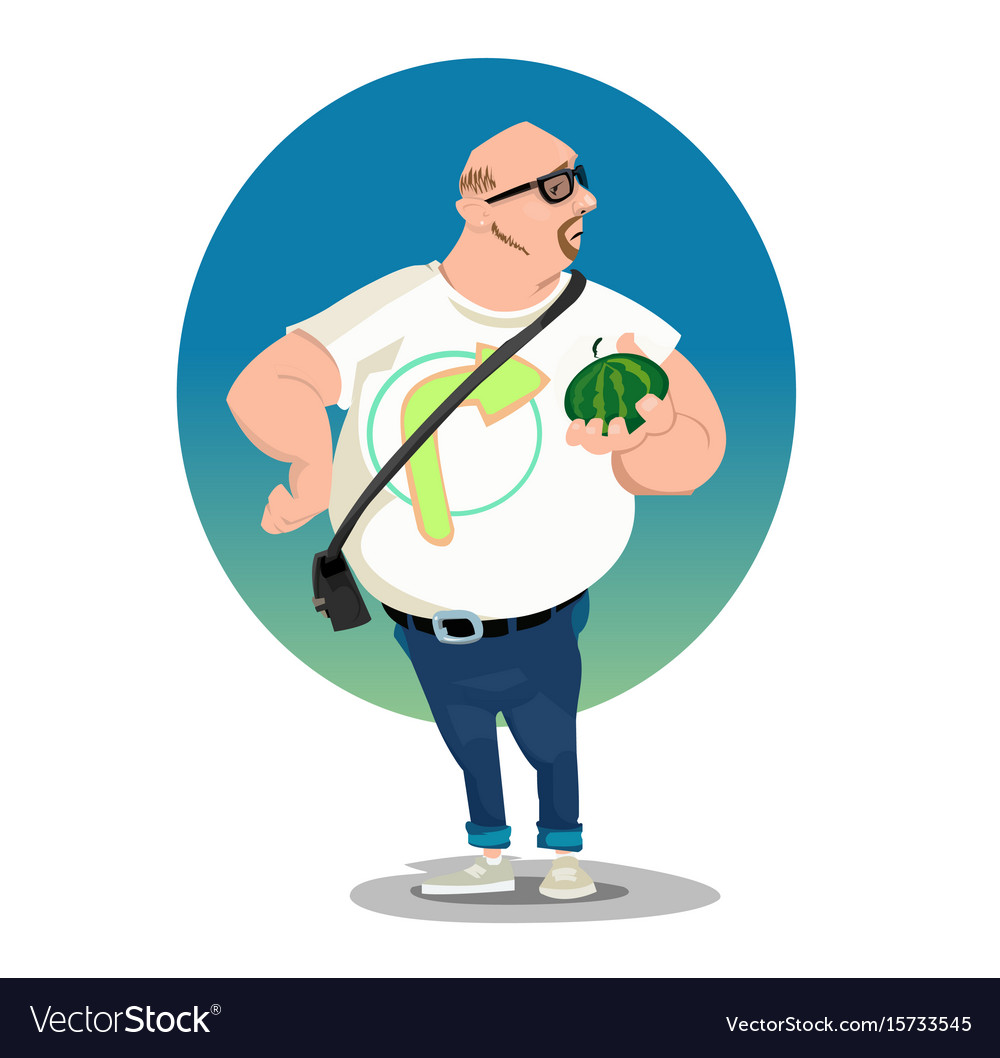 Digital funny comic cartoon vector image