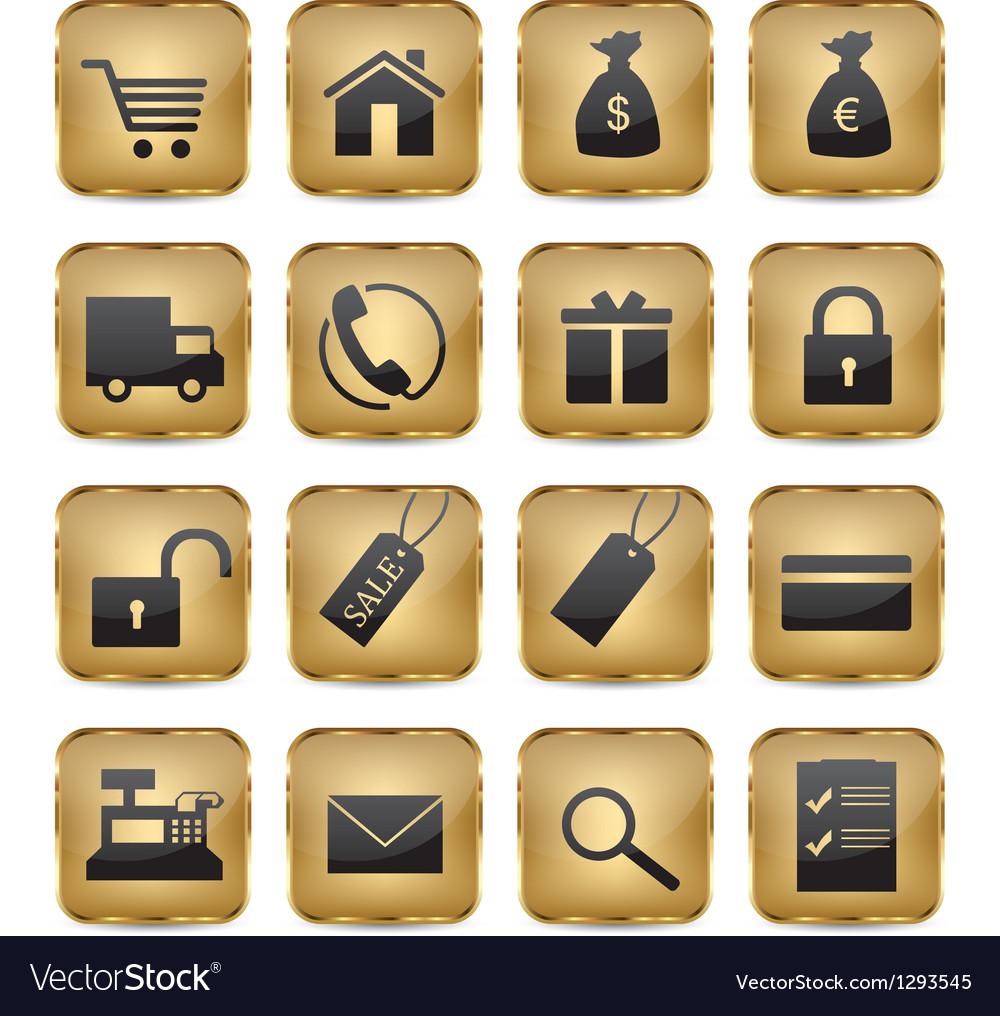 Golden Shop Icons
