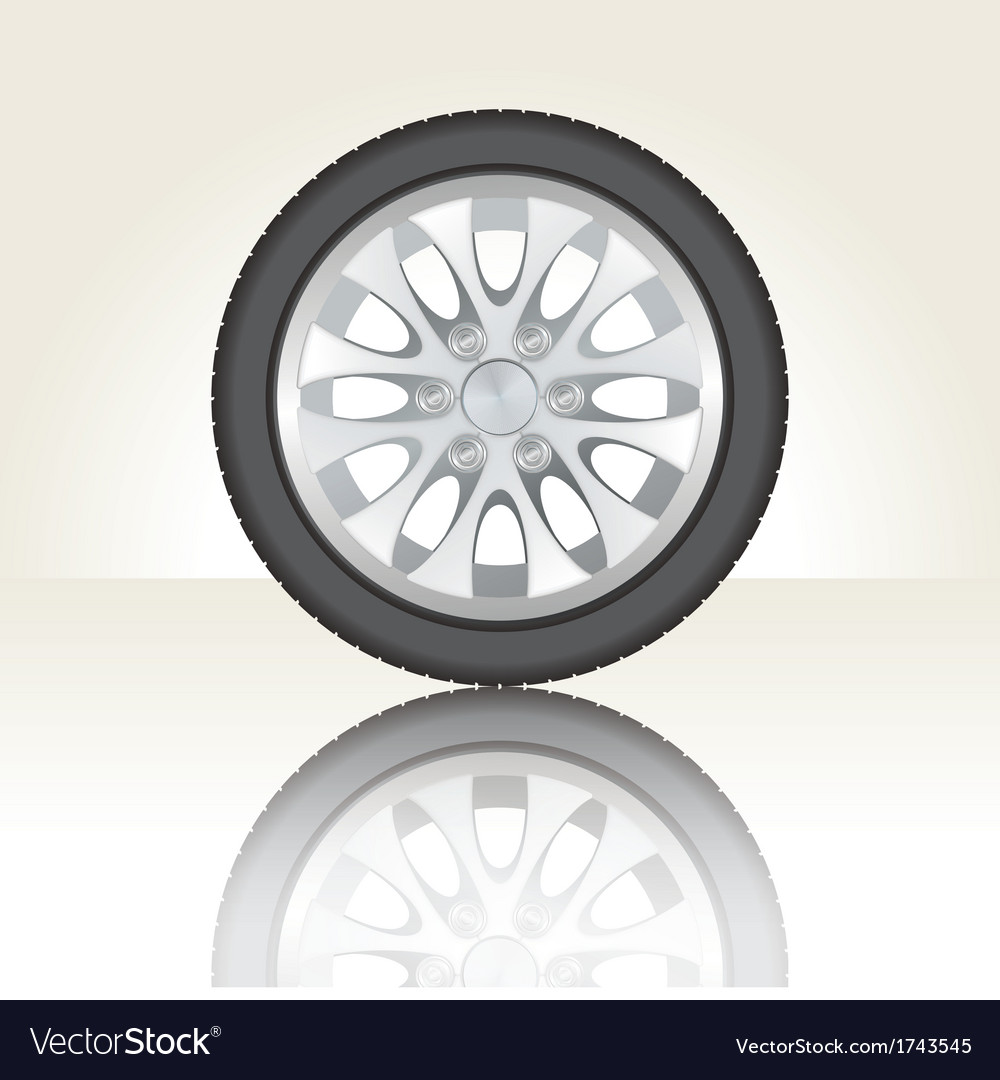 Isolated car Tyre vector image
