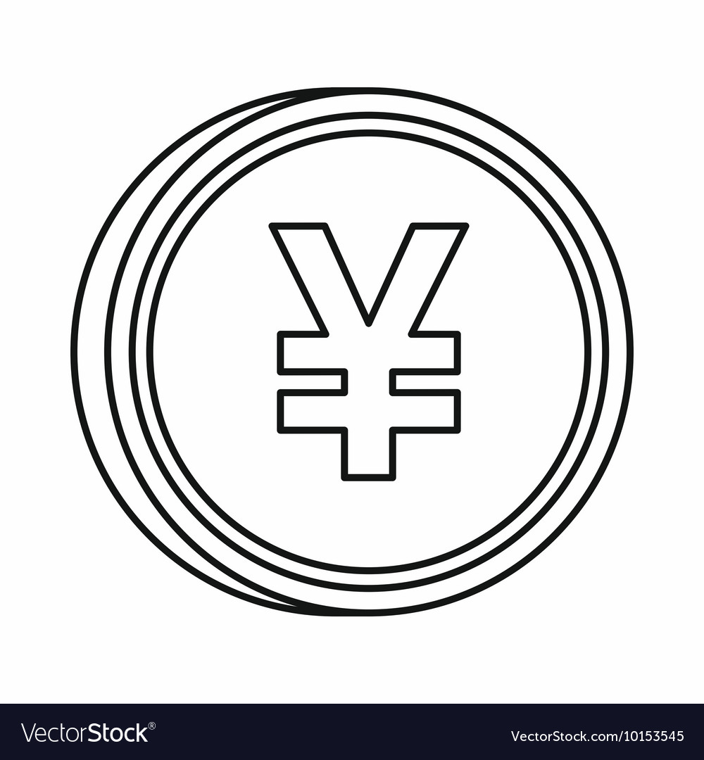 Japanese yen currency symbol icon outline style