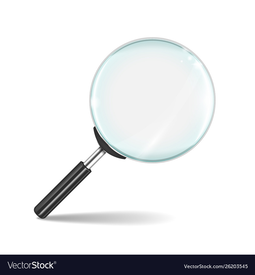 Magnifying glass transparent realistic zoom lens
