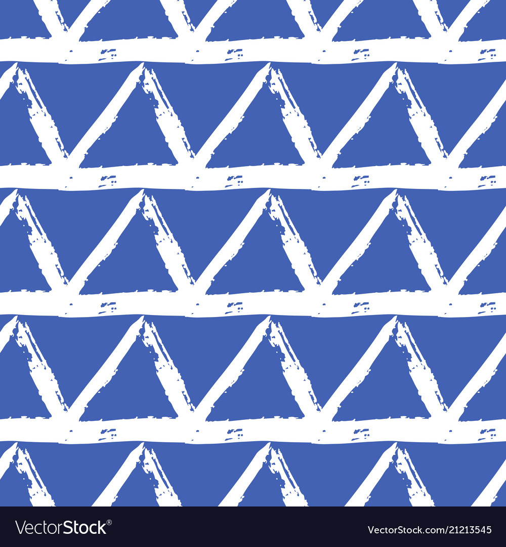 Seamless pattern with brush stripes and