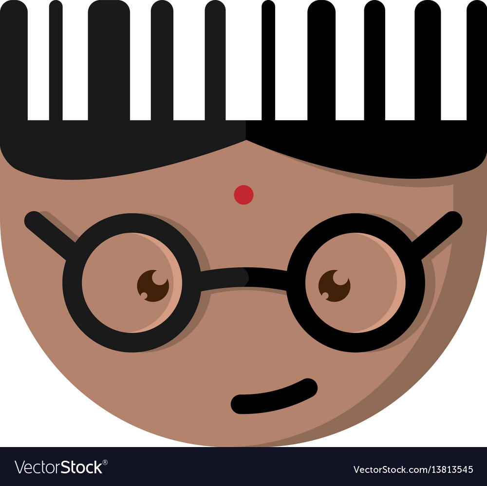 The indian cartoon character with glasses