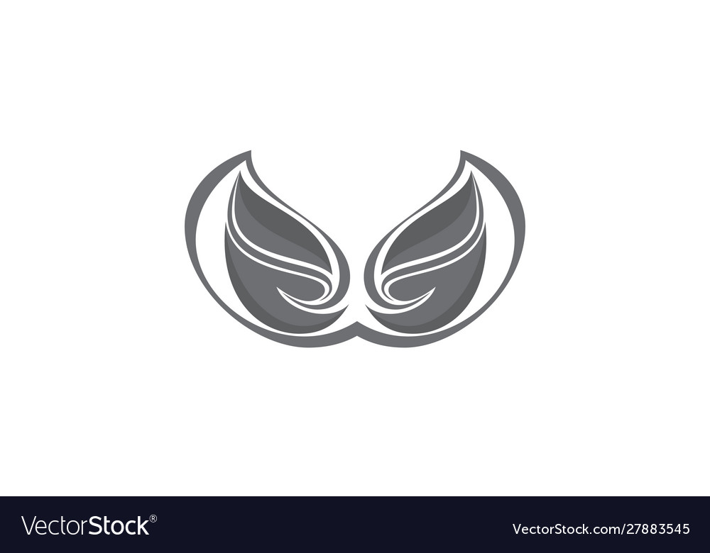 Wing art abstract logo