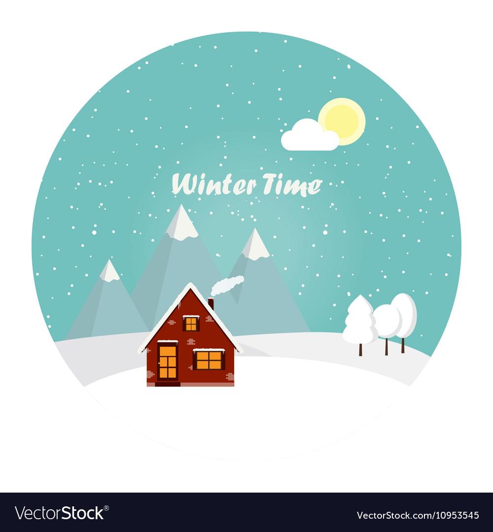 Wonderful winter morning of Christmas