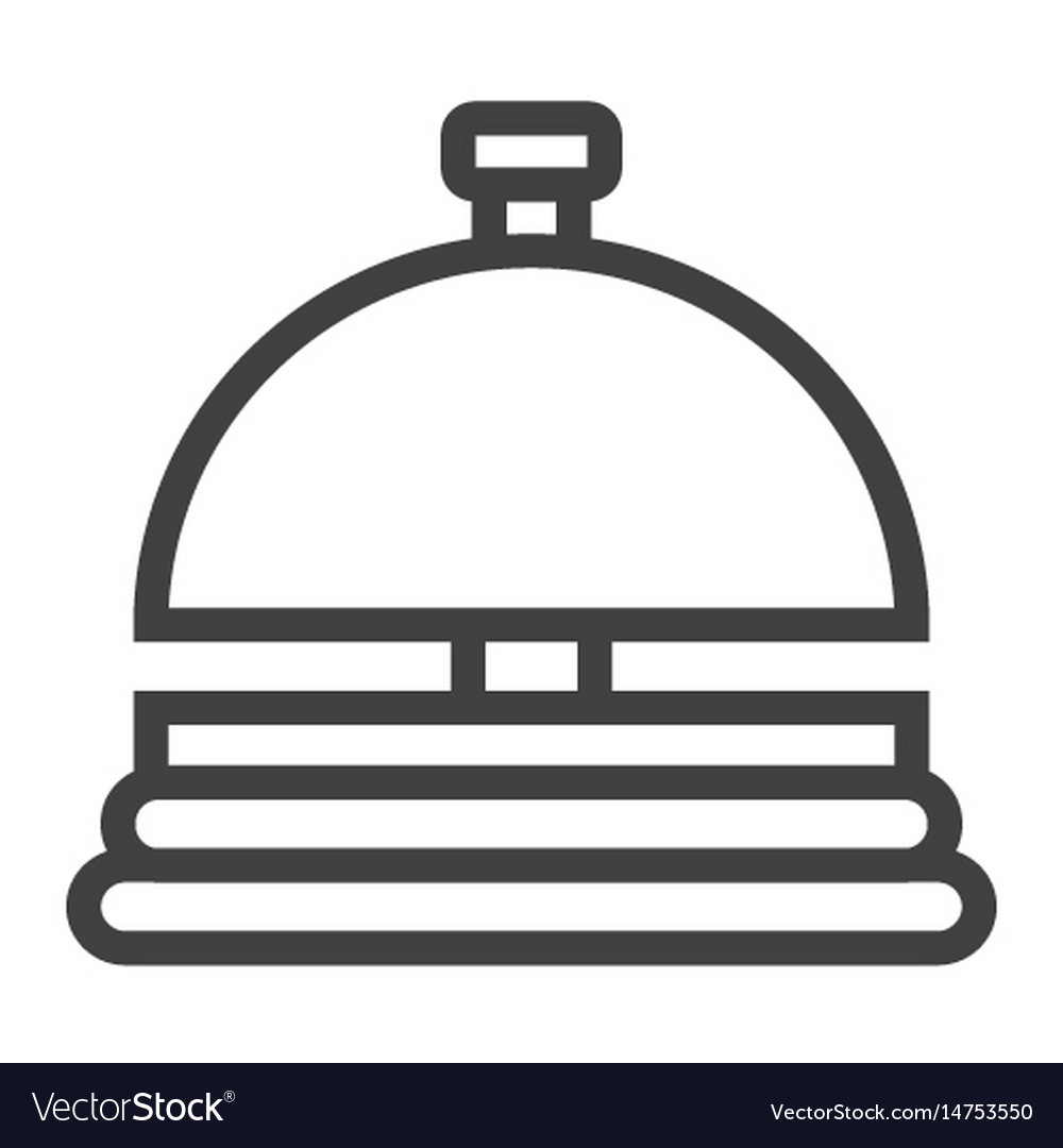 Hotell bell line icon travel and tourism