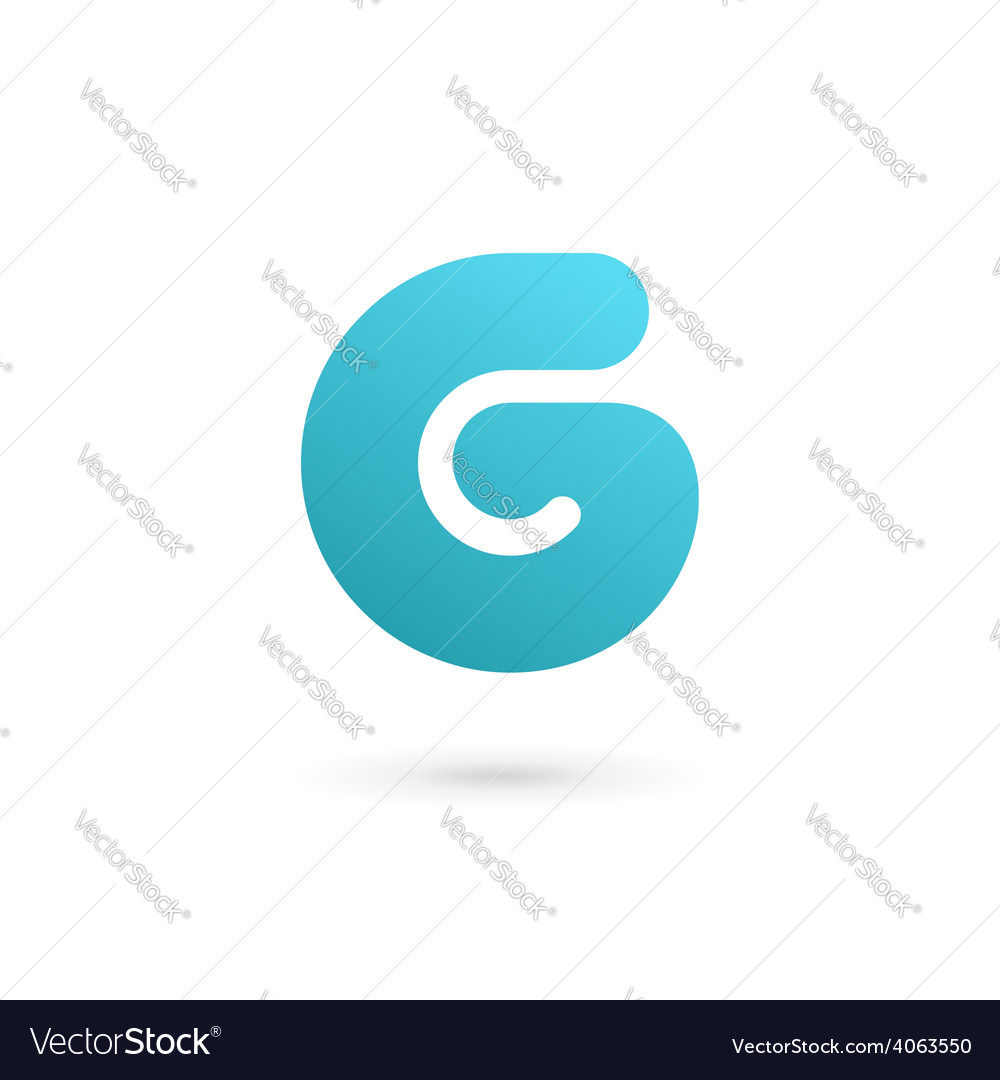 Letter G number 6 logo icon design template