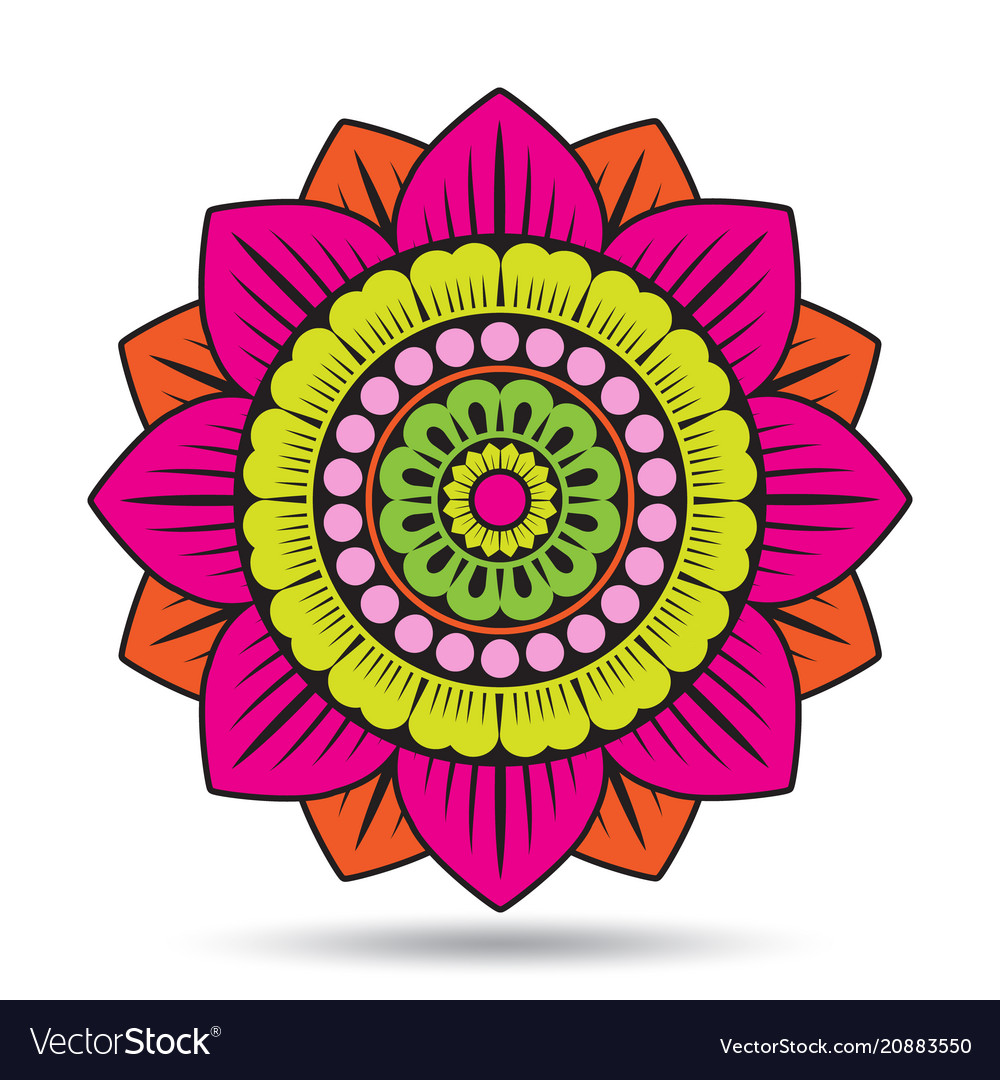 Lotus Flower Elements Oriental Ornament Graphic Vector Image