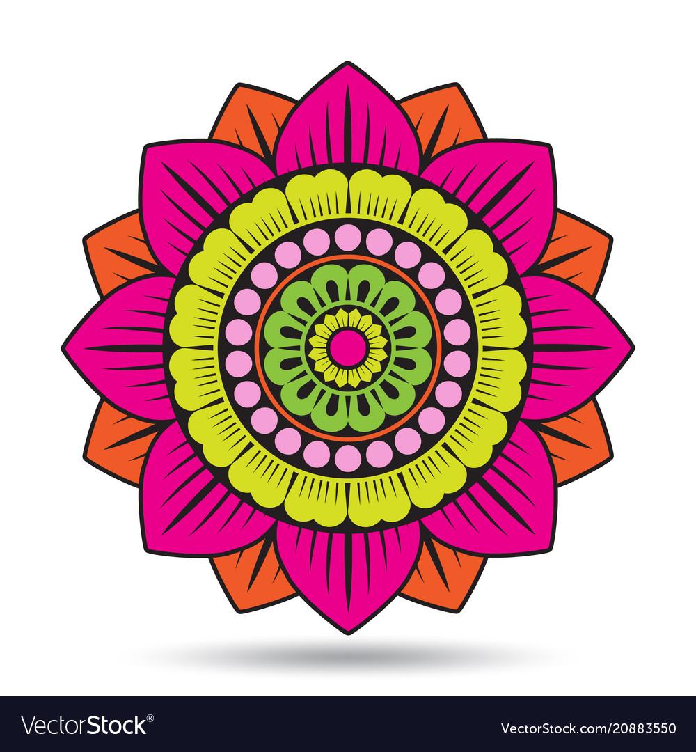 Lotus flower elements oriental ornament graphic vector image izmirmasajfo