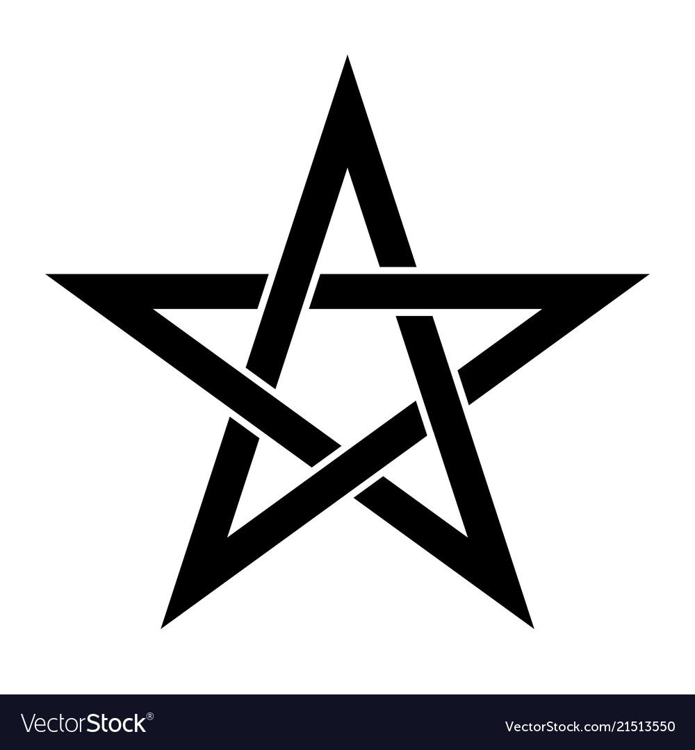Pentagram Sign Five Pointed Star Magical Symbol Vector Image