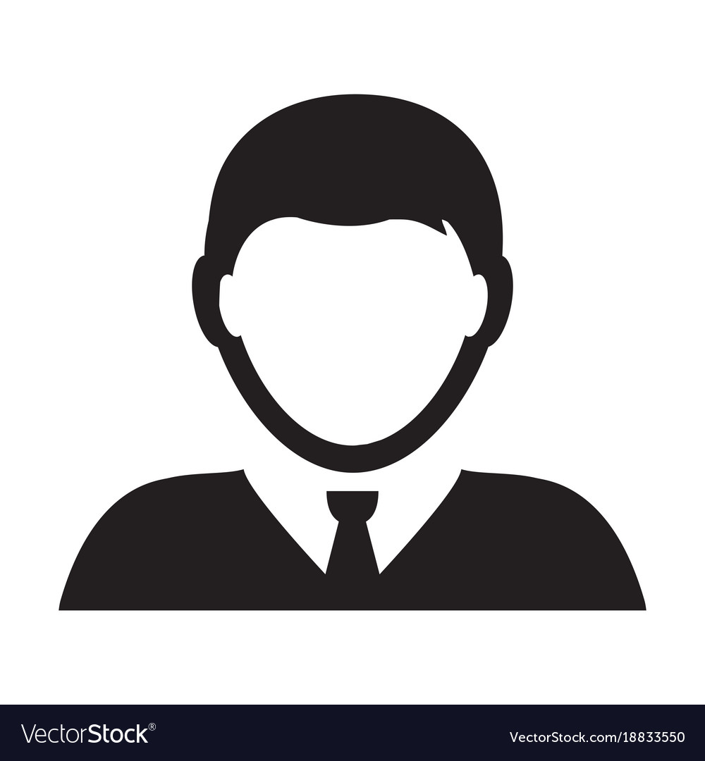 person icon male user profile avatar royalty free vector
