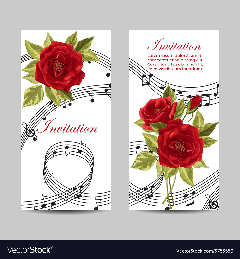 Set of wedding invitation cards design Royalty Free Vector