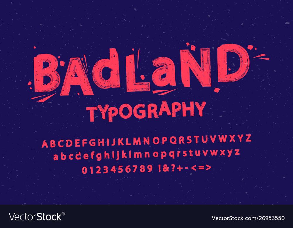 Stylized grunge and cracked font