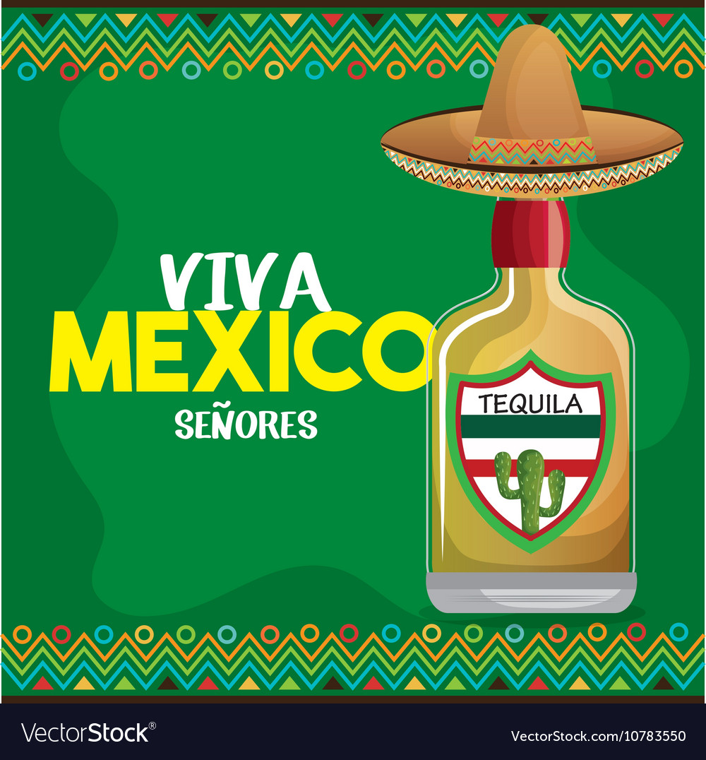 Viva mexico tequila hat graphic