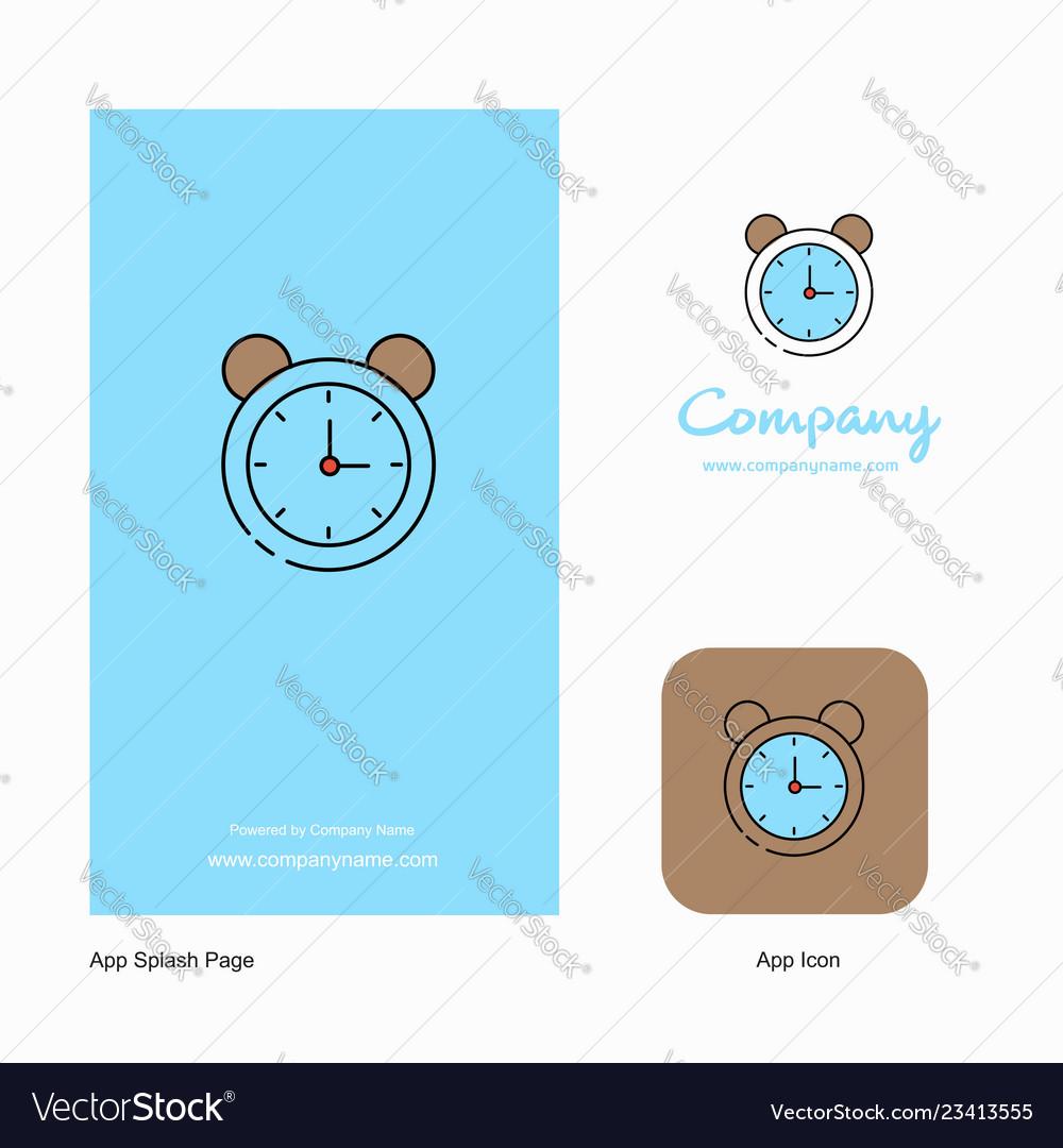 Alarm company logo app icon and splash page