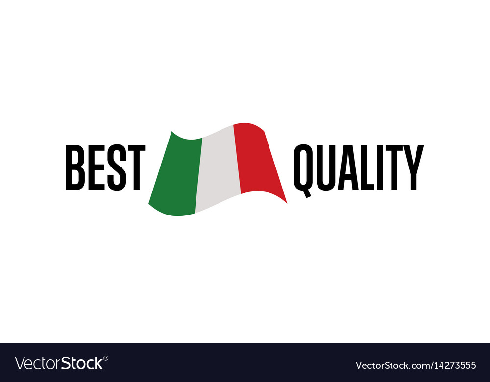 Best quality isolated label for italy products