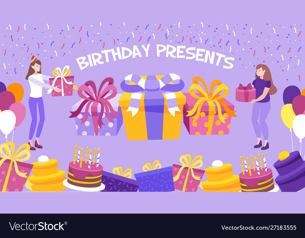 Birthday present background
