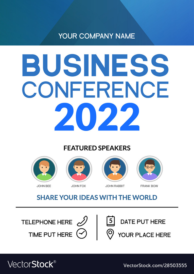 Business conference simple template invitation