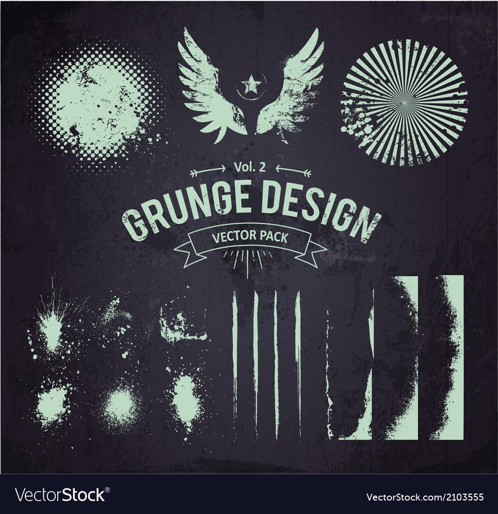 Dirty Grunge Elements Set 2