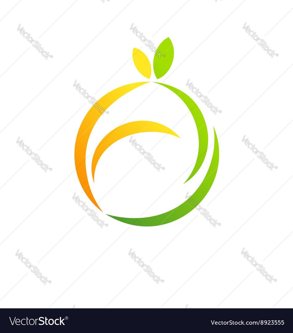 Fresh fruit logo health concept symbol icon design
