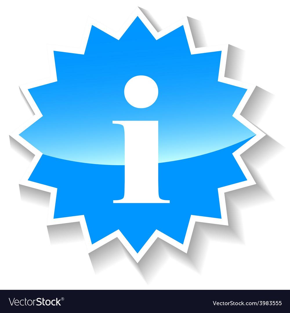 Info blue icon