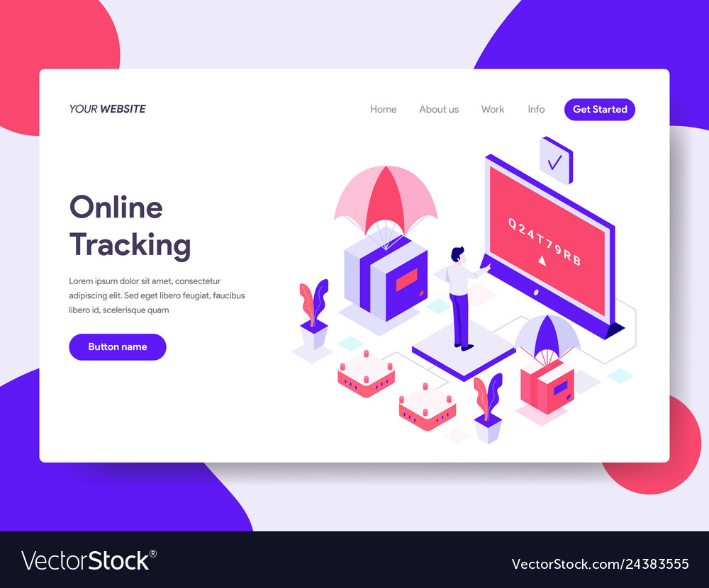 Landing page template of online tracking concept