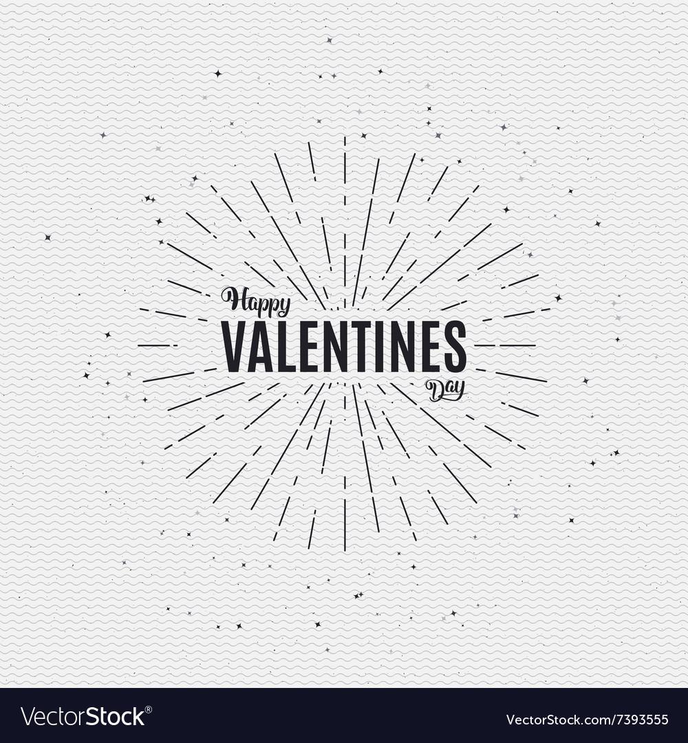 Valentines day - calligraphy typography badge It