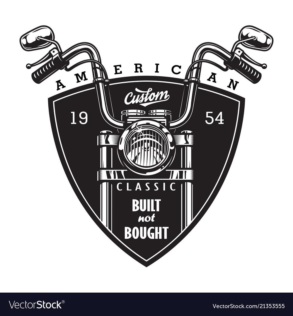 Vintage Custom American Motorcycle Logo Royalty Free Vector