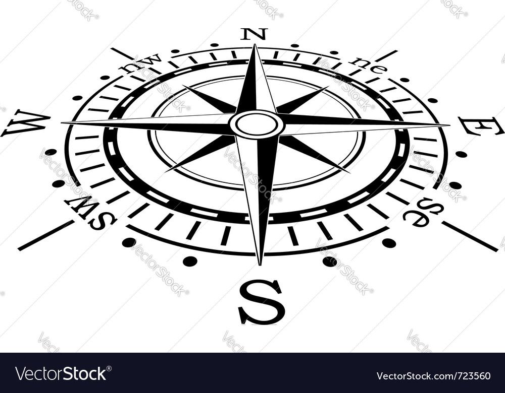 black compass royalty free vector image vectorstock rh vectorstock com compass vector material compass vector material