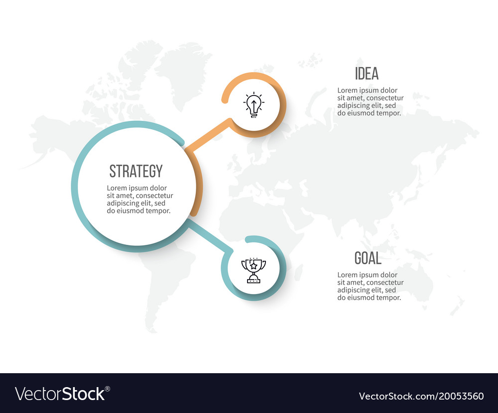 Business infographic organization chart with 2