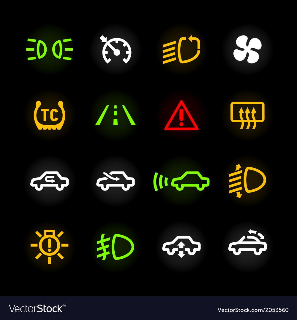 car dashboard icons royalty free vector image vectorstock