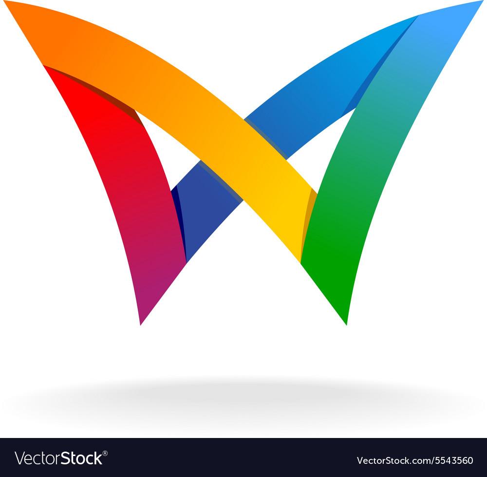 Colorful rainbow logo vector image